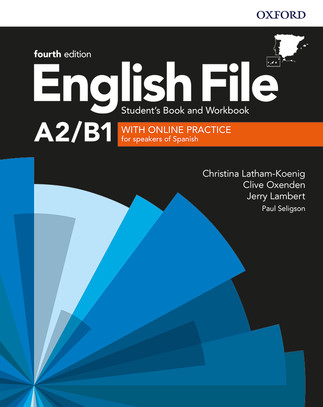 English File 4th Edition A2 B1 Student's Book and Workbook